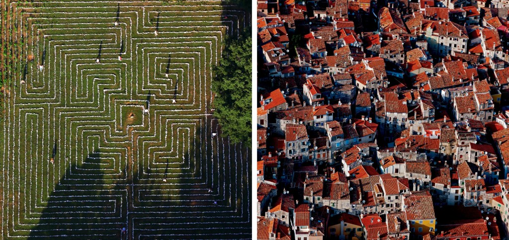 Diptych: Labyrinth Island of Cres / Rooftops Rovinj
